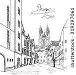 old town of prague  czech... | Shutterstock .eps vector #319297061