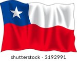 waving flag of chile isolated...