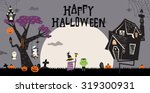 halloween background with the...   Shutterstock .eps vector #319300931