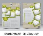 flyer template. business... | Shutterstock .eps vector #319309259