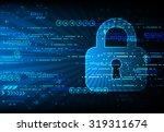 secure digital space. virtual... | Shutterstock .eps vector #319311674