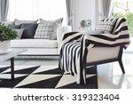 modern living room interior... | Shutterstock . vector #319323404