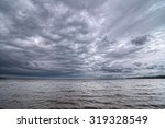 Dark Cloudy Sky On The Volga...