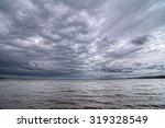 Dark Cloudy Sky On The Volga...