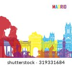 madrid skyline pop in editable... | Shutterstock .eps vector #319331684