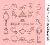fairy tale princess icon | Shutterstock .eps vector #319334477