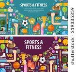 fitness vector logo design... | Shutterstock .eps vector #319335359