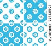 basketball patterns set