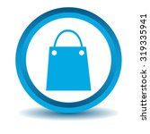 shopping bag icon  blue  3d ...