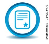 best document icon  blue  3d ...