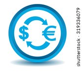 dollar euro exchange icon  blue ...