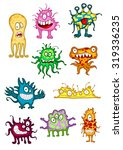 cute monsters  demons  beasts... | Shutterstock .eps vector #319336235
