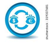 dollar euro trade icon  blue ...