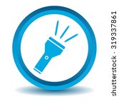 flashlight icon  blue  3d ...
