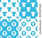 t shirt patterns set  simple...