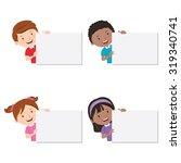 children with board. children... | Shutterstock .eps vector #319340741