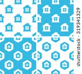 house patterns set  simple and...