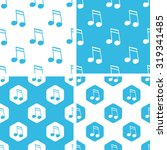 sixteenth note patterns set ...