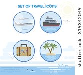 set of detailed travel icons....