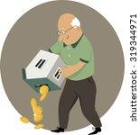 reverse mortgage. an elderly...   Shutterstock .eps vector #319344971