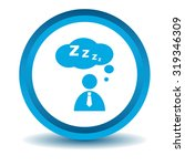 sleeping person icon  blue  3d  ...