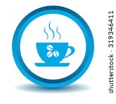 coffee cup icon  blue  3d ...