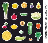 vegetable and fruit... | Shutterstock .eps vector #319359497