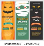 halloween party invitations ... | Shutterstock .eps vector #319360919