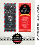 christmas party invitation.... | Shutterstock .eps vector #319369361