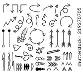 doodle vector arrows set. | Shutterstock .eps vector #319370705