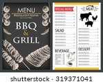 barbecue griil meat food and... | Shutterstock .eps vector #319371041