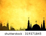 postcard eid mubarak for... | Shutterstock . vector #319371845