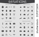 web icons set of 64 flat icons  ...   Shutterstock .eps vector #319372604
