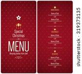 special christmas festive menu... | Shutterstock .eps vector #319373135