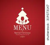 special christmas festive menu... | Shutterstock .eps vector #319373147