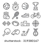 sport icons in trendy linear... | Shutterstock .eps vector #319380167