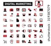digital marketing  online sales ... | Shutterstock .eps vector #319387079