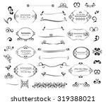 big vector set calligraphic... | Shutterstock .eps vector #319388021