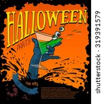halloween party poster poster... | Shutterstock .eps vector #319391579