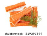 crab sticks on white background | Shutterstock . vector #319391594