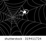cobweb with a spider in the... | Shutterstock .eps vector #319411724