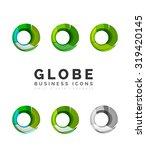 set of globe sphere or circle... | Shutterstock .eps vector #319420145