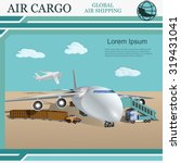 the logistics concept of air ...   Shutterstock .eps vector #319431041