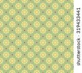 snowflake seamless vector... | Shutterstock .eps vector #319433441