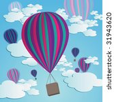 colorful hot air balloons... | Shutterstock . vector #31943620