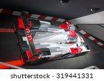 Small photo of FRANKFURT, GERMANY - SEPTEMBER 16, 2015: Frankfurt international motor show (IAA) 2015. AUDI R18 e-tron quattro