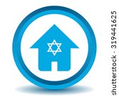 jewish house icon  blue  3d ...
