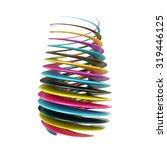 cmyk abstract shape. 3d render...   Shutterstock . vector #319446125
