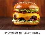 Guacamole Beef Burger With...