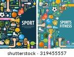 sport vector logo design... | Shutterstock .eps vector #319455557